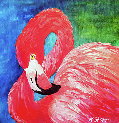 Painting - Flamingo 2 by Kathy Sturr