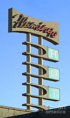 Flamingo Hotel Wall Art - Photograph - Flamingo Hot by Randall Weidner
