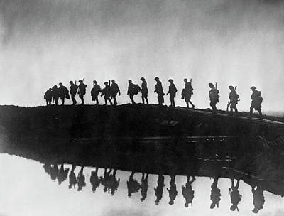 Photograph - Flanders Soldiers by Frank Hurley