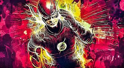 Mixed Media - The Flash by Al Matra
