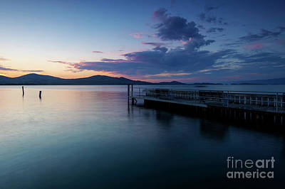 Photograph - Flathead Lake Sunset by Mike Dawson
