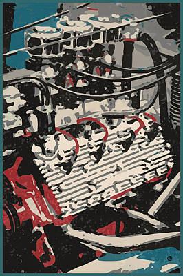 Digital Art - Flathead V8 by Gary Grayson