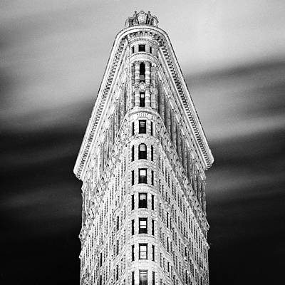 Photograph - Flatiron Building At Night by Adam Garelick