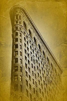 Music Figurative Potraits - Flatiron Building Vintage Style NYC Landmark by Elliot Mazur