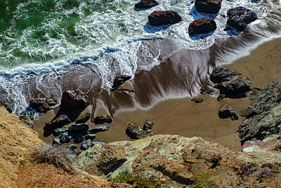 Photograph - Flattening Waves From Above by Judith Barath