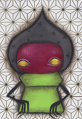 Monster Ufo Wall Art - Painting - Flatwoods Monster II by Abril Andrade Griffith