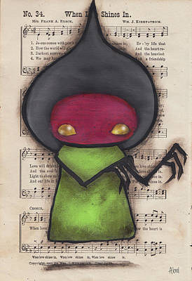 Monster Ufo Wall Art - Painting - Flatwoods Monster IIi by Abril Andrade Griffith