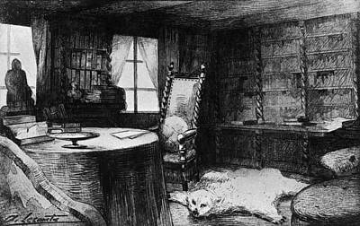 Flauberts Study Art Print by Hulton Archive