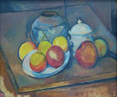 Painting - Flawed Vase By Paul Cezanne, 1890-93 by Peter Barritt