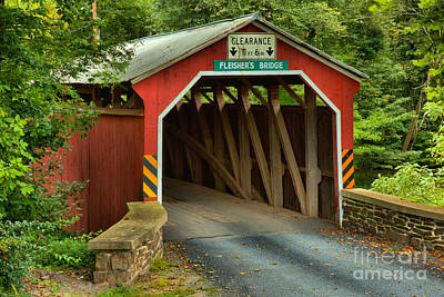 Photograph - Fleisher Covered Bridge Closeup by Adam Jewell