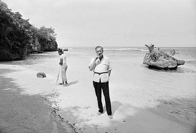 Photo Shoot Photograph - Fleming In Jamaica by Harry Benson