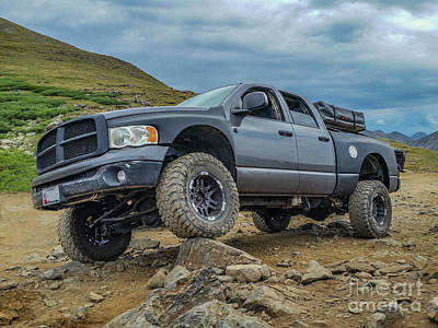 Photograph - Flexing Dodge Ram by Tony Baca