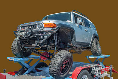 Photograph - Flexing Fj Cruiser by Tony Baca