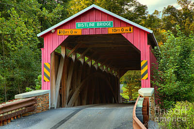 Photograph - Flickinger's Mill Covered Bridge by Adam Jewell