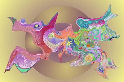 Digital Art - Flight Of Evolution V2 by Julia Woodman