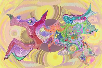 Digital Art - Flight Of Evolution V4 by Julia Woodman