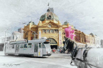 Painting - Flinders Street Station, Melbourne by Chris Armytage