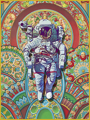 Digital Art - Floating Astronaut by Gary Grayson