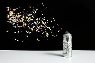 Photograph - Floating Confetti And A Damaged Spray by Benne Ochs