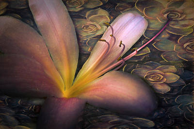 Photograph - Floating In Nature Botanical Painting by Debra and Dave Vanderlaan