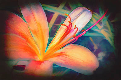 Photograph - Floating In Nature Pretty Watercolor Abstract Painting by Debra and Dave Vanderlaan