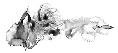 Painting - Little Fish Big Mess - Black And White Abstract by Modern Art Prints