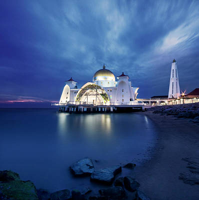 Photograph - Floating Mosque At Sunset by Tomatoskin