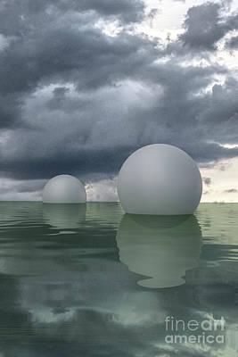 Digital Art - Floating Spheres by Clayton Bastiani