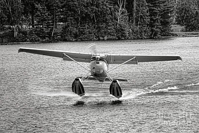 Photograph - Floatplane Taking Off On A Maine Lake by Olivier Le Queinec