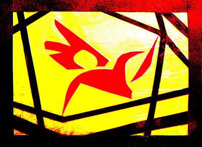Digital Art - Flocking Bird Gridismjr by Artist Dot