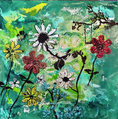 Painting - Floral Abstract by Michael Giannella