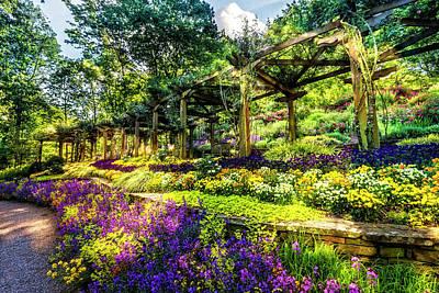 Photograph - Floral Abundance In The Garden by Debra and Dave Vanderlaan