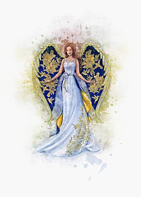 Digital Art - Floral Angel by Ian Mitchell