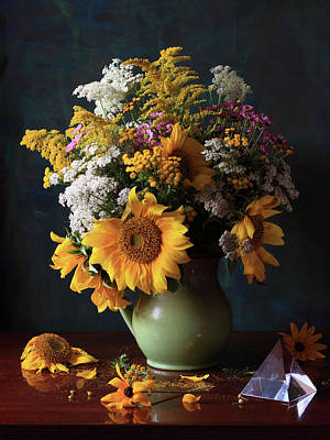 Fragility Photograph - Floral Arrangement by Panga Natalie Ukraine