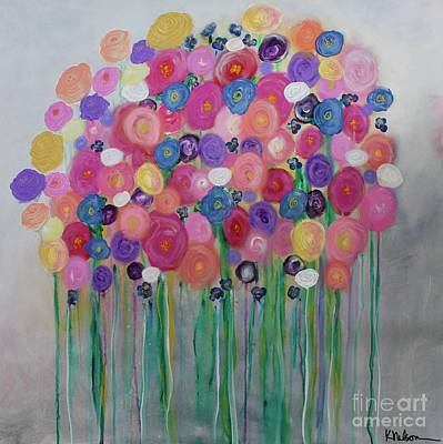 Painting - Floral Balloon Bouquet by Kim Nelson