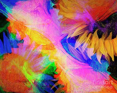 Digital Art - Floral Dance 006 by Edmund Nagele