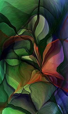 Digital Art - Floral Fantasy 0918 by David Lane