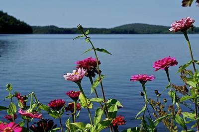 Photograph - Floral Finger Lake by Kathy Ozzard Chism