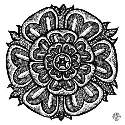 Drawing - Floral Icon 13 by Amy E Fraser