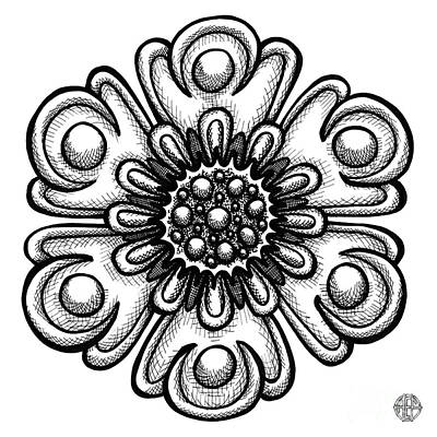 Drawing - Floral Icon 16 by Amy E Fraser