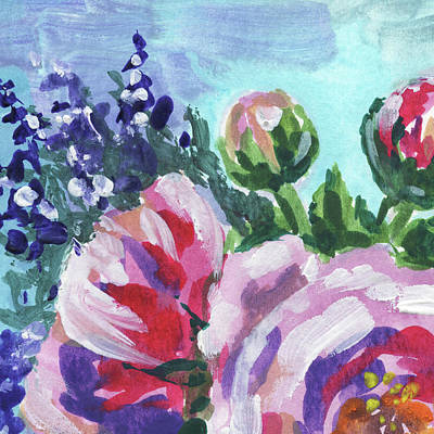 Painting - Floral Impressionism In Gouache by Irina Sztukowski