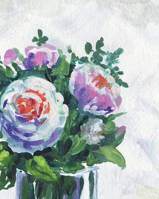 Painting - Floral Impressionism White Pink Flowers by Irina Sztukowski