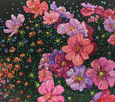 Painting - Floral Interpretation - Cosmos by James W Johnson