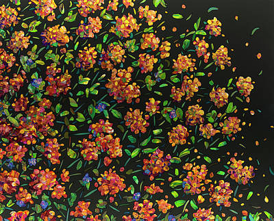 Painting - Floral Interpretation - Lantana by James W Johnson