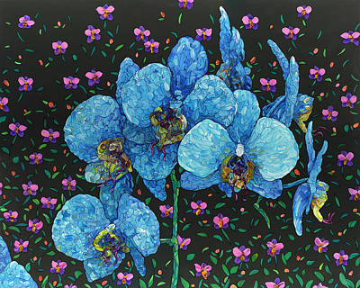 Painting - Floral Interpretation - Orchid by James W Johnson