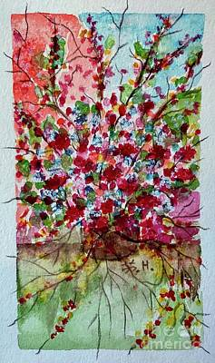 Colorful People Abstract Royalty Free Images - Floral life Royalty-Free Image by Wonju Hulse