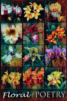 Photograph - Floral Poetry In Caribbean Colors by Debra and Dave Vanderlaan