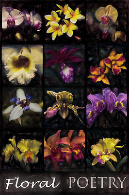 Photograph - Floral Poetry Wood Tones by Debra and Dave Vanderlaan