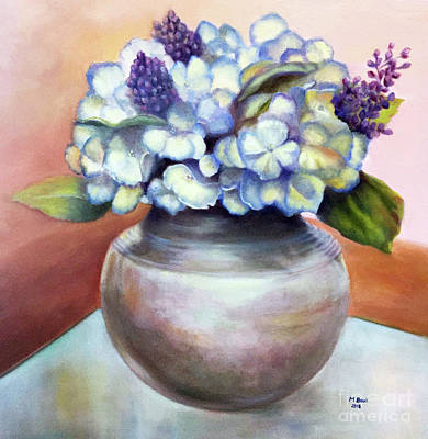 Painting - Floral Still Life With Hydrangeas by Marlene Book