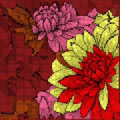 Digital Art - Floral  Succulent Flowers  by Sheila Mcdonald